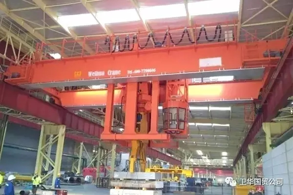 Overhead Crane with Clamps delivery to Tanzania