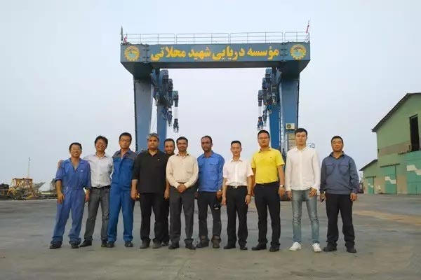 Boat and Yacht Handling Crane delivery to United Arab Emirates
