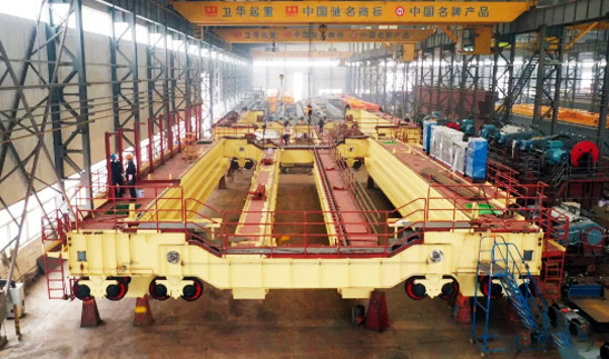 Weihua Crane Provides Metallurgical Casting Cranes for Baosteel, China