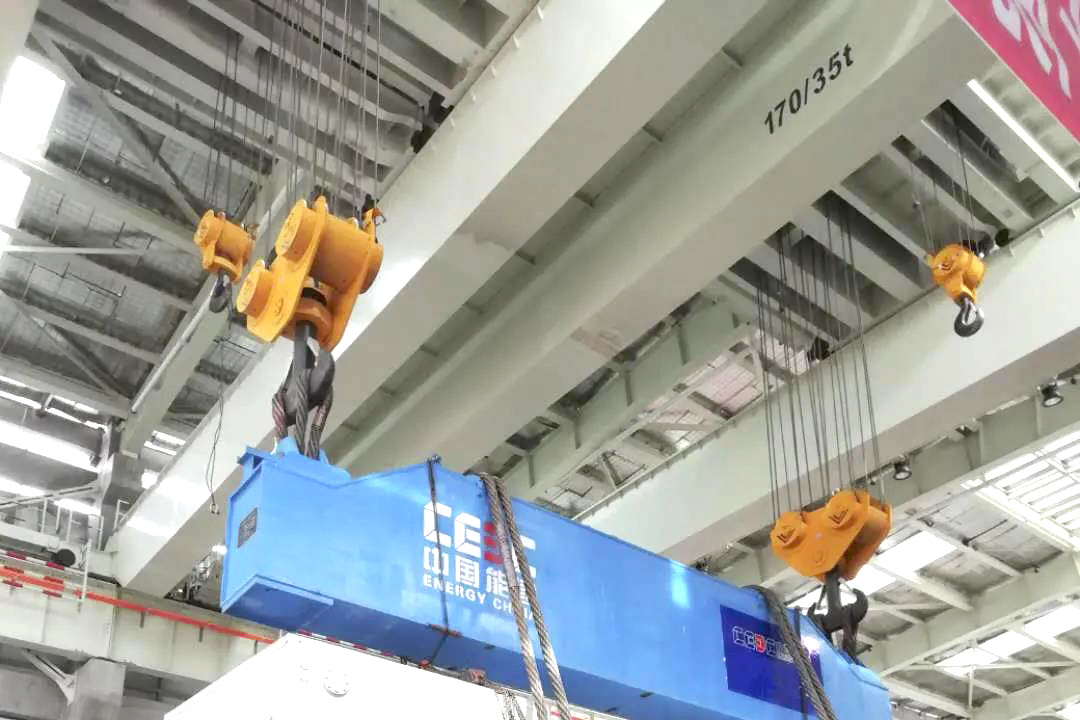170-ton bridge crane for power plant made by Weihua Group